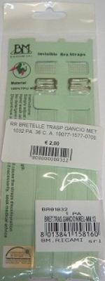 BRETELLE TRASPARENTI CON  GANCIO IN METALLO ART. 1032