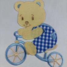 APPLICAZIONE BABY ART.  APP01405 ORSETTO CON BICICLETTA GRANDE PZ. 1