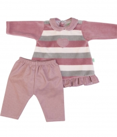 COMPLETINO 2 PEZZI ART. 14110 COLORE PINK FS BABY