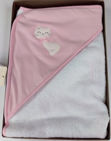 TRIANGOLO CHIC NEONATA ART. TRI86S COLORE ROSA CHIC BY PASTELLO